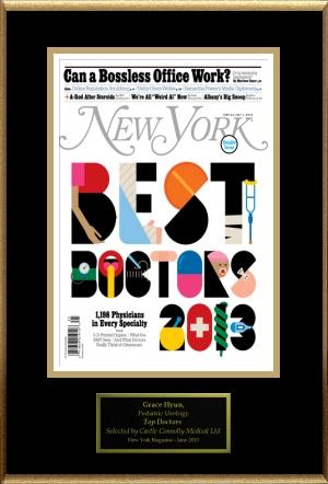 NY Magazine Best Doctor Plaque